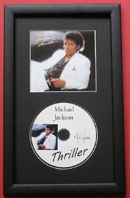 MICHAEL JACKSON - THRILLER CD DISC MEMORABILIA presentation
